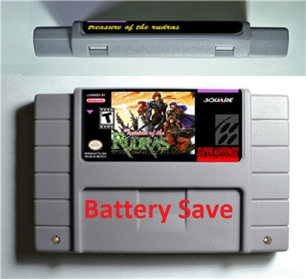 Treasure of the Rudras Super Nintendo SNES Cartridge Battery Save US Version New