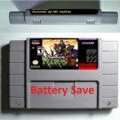 Treasure of the Rudras Super Nintendo SNES Cartridge Battery Save US Version New