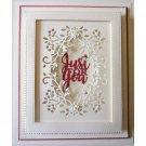 Oval Flower Frame Metal Cutting Dies DIY Scrapbooking Embossed Stencil Template