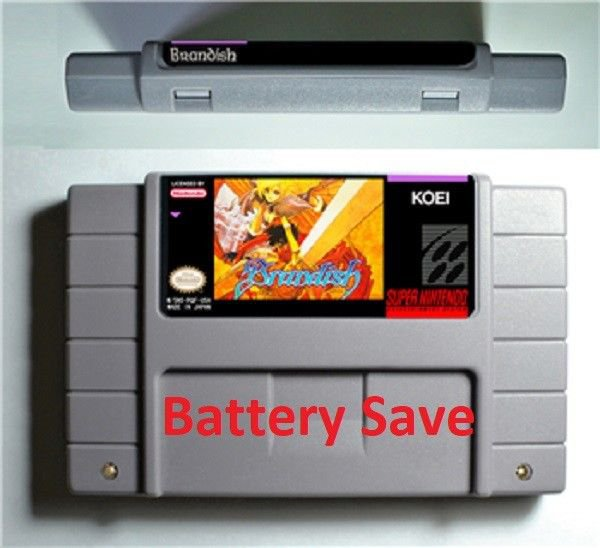 Brandish 1 Super Nintendo SNES NTSC Game Cartridge Card US Version Battery Save