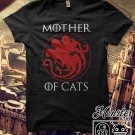 Mother Of Cats Print Women Short Sleeve T-shirt Casual Top Tees Plus Size Shirts