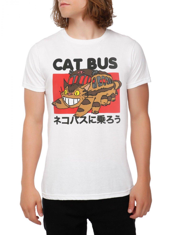 Cat Bus Studio Ghibli Totoro T-shirt