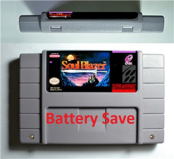 Soul Blazer SNES Super Nintendo Video Game NTSC Card USA Version Battery Save