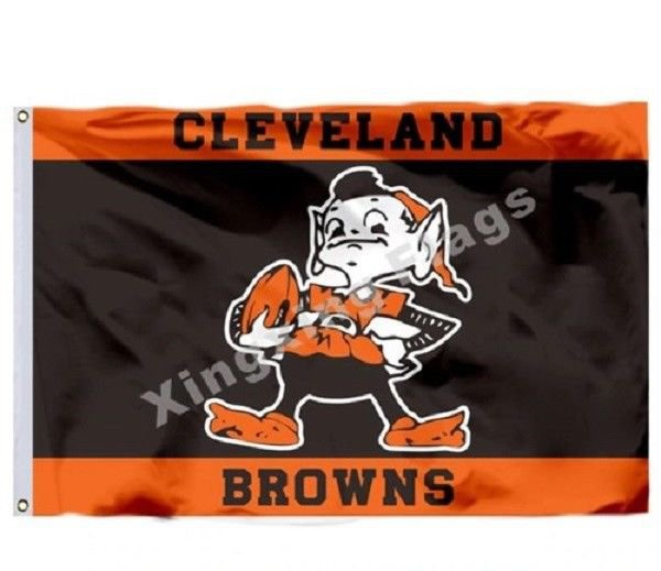 Cleveland Browns Flag Polyester NFL Banner Customized Flag Size 3X5FT