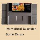 International Superstar Soccer-Deluxe Super Nintendo SNES 16 Bit NTSC US Version
