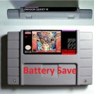 Dragon Quest VI Super Nintendo SNES NTSC Game Cartridge Battery Save US Version