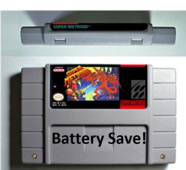 Vintage Super Metroid Nintendo SNES Game Cartridge USA Version Battery Save New