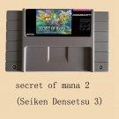 Secret of Mana 2 II Seiken Densetsu 3 Cartridge NTSC 16 Bit 46 Pin US Version