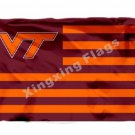 VT Logo Virginia Tech Hokies Flag 3X5FT Polyester NCAA Banner Large College Flag