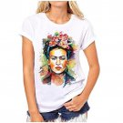 2018 New Fashion Frida Kahlo Women Funny Persionalized Print T-Shirt Top Tees