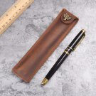 Leather Pen Pouch Holder Single Pencil Bag Pen Case For Rollerball Fountain Pen
