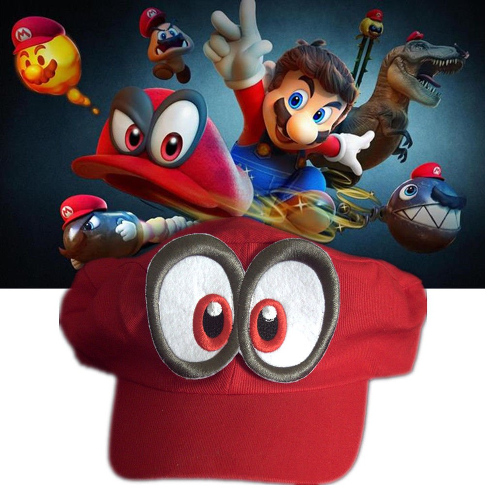 Nintendo Super Mario Odyssey Cappy Hat Rare Official Handmade Switch Cosplay