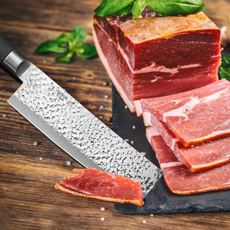 """7"""" Professional Santoku Knife High Carbon Stainless Steel Meat Steak Cleaver New"""