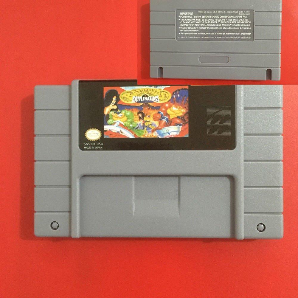 Battletoads in Battlemaniac SNES Super Nintendo 16Bit NTSC Video Game USA Ver