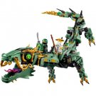 LEGO Ninjago Green Mech Dragon Movie Building Kit 592 Pcs Blocks Toy Kids Set