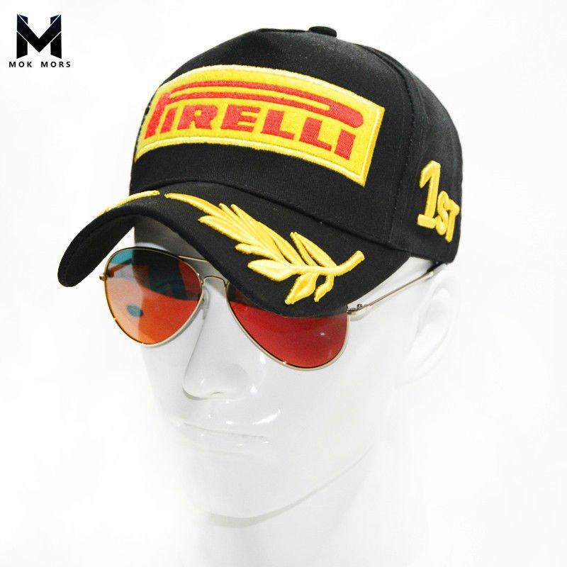 Embroidery Pirelli Racing Hat F1 Sports Moto GP Peaked Baseball Cap