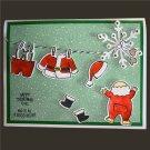 Xmas Santa Claus Stamps Dies Set 14*14cm Clear Stamps 123*84mm Dies Scrapbook