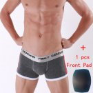 Mens Trunks Push Cup Up Cotton Bulge Enhancing Front Padded Underwear Boxers