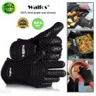 WALFOS 1pcs Food Grade Heat Resistant Silicone Kitchen Barbecue Grill Oven Glove