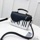 Leather Flap Handbag Piano Design Top Handle Women Shoulder Crossbody Bags