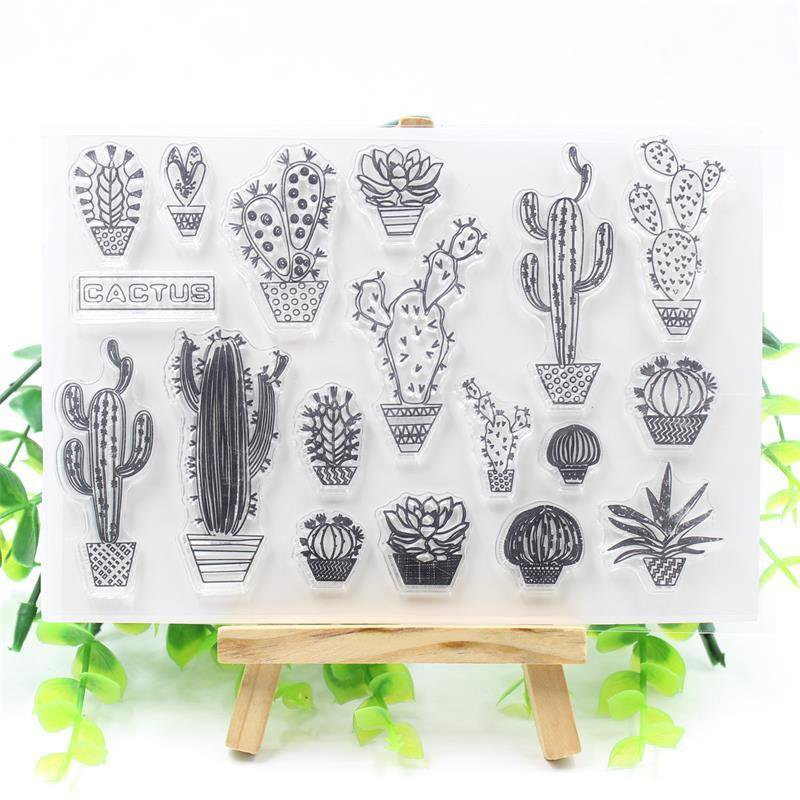 Cactus Clear Transparent Silicone Stamps For Embossed Scrapbooking Album Card