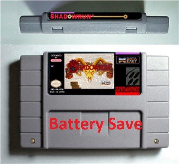 Shadowrun (SNES, Super NES Nintendo, '93) NTSC Version English Translated New