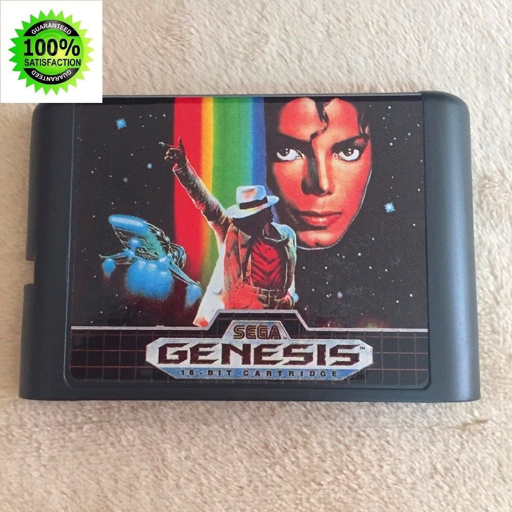 Micheal Jackson's Moonwalker 16 bit Cartridge Game Card Sega Mega Drive Genesis