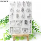 Succulent Plants Clear Transparent Silicone Stamps For Embossed Scrapbooking