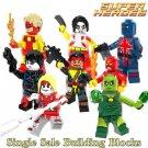 Building Blocks Forge Pyro Domino Radioactive Man Super Heroes 1 pcs Random