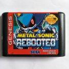 Metal Sonic Rebooted 16 bit MD Cartridge Game Card Sega Mega Drive Genesis New