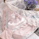Lovely Plus Size Underwear Sexy Lace Cute Beads Bow Style Panties Mid-rise Brief