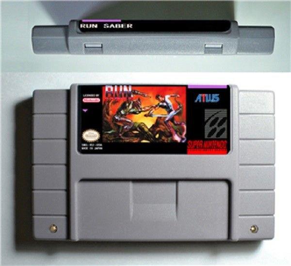 Run Saber Super Nintendo SNES 16 Bit NTSC Cartridge Card Action Game US Version