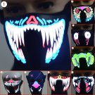LED Mask Rave EDC Dreamstate Luminous Flashing Half Face Light Up Dance Party x1
