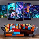5 Panels Canvas Painting Rick And Morty Poster Wall Art Painting Home Decor New