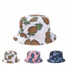 Cute Fashionable Pineapple Printed Bucket Hat Lovely Summer Women Outdoor Cap