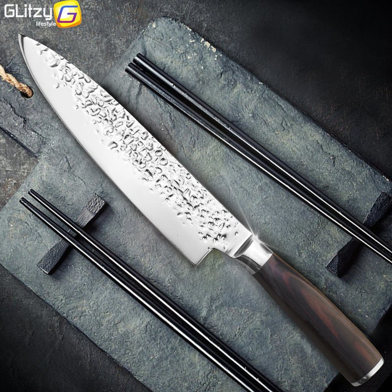 8 inch High Quality Santoku Knife Stainless Steel Knife For Professional Chef