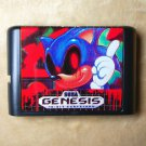Phantom Sonic 16 bit MD Cartridge Game Card Sega Mega Drive Genesis System Based