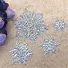 4 Pcs Snowflake DIY Metal Cutting Dies Stencil Embossed Album Card Scrapbooking