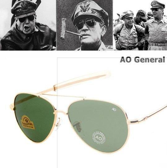New Army Military Aviator Sunglasses Men Aviation Eyewear AO American Optical