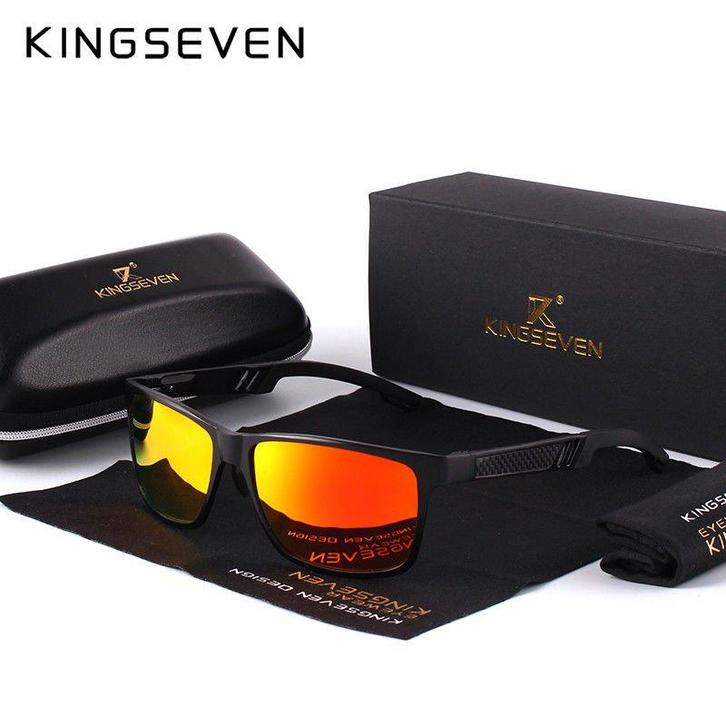 KINGSEVEN Men Polarized Sunglasses Aluminum Magnesium Sun Glasses Driving Glasse