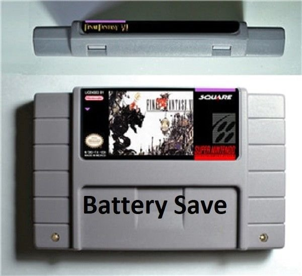 Final Fantasy VI 6 Super Nintendo SNES 16bit NTSC RPG Game Battery Save English