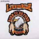 Large Embroidered Patch Iron-On Born To Be Free Freedom Logo For Biker Classic