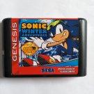 Sonic Winter Adventures 16 bit MD Cartridge Game Card Sega Mega Drive Genesis