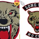 Lone Golf No Club Badge Embroidered Iron Patch Motorbike Rider Jacket Large Size
