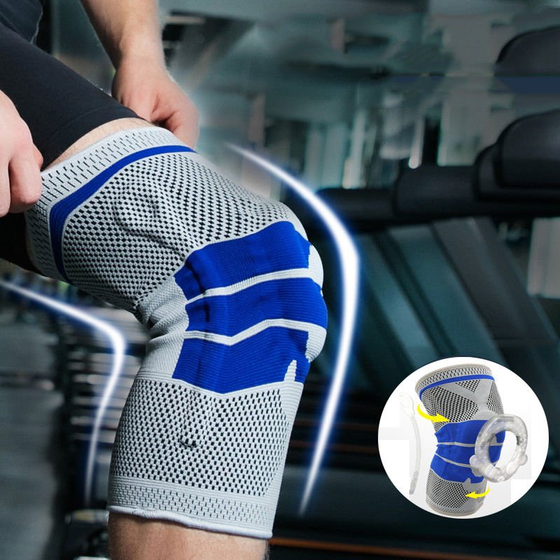Nylon Silicon Knee Sleeve - Perfect Protection For Sports-Free US Shipping!!