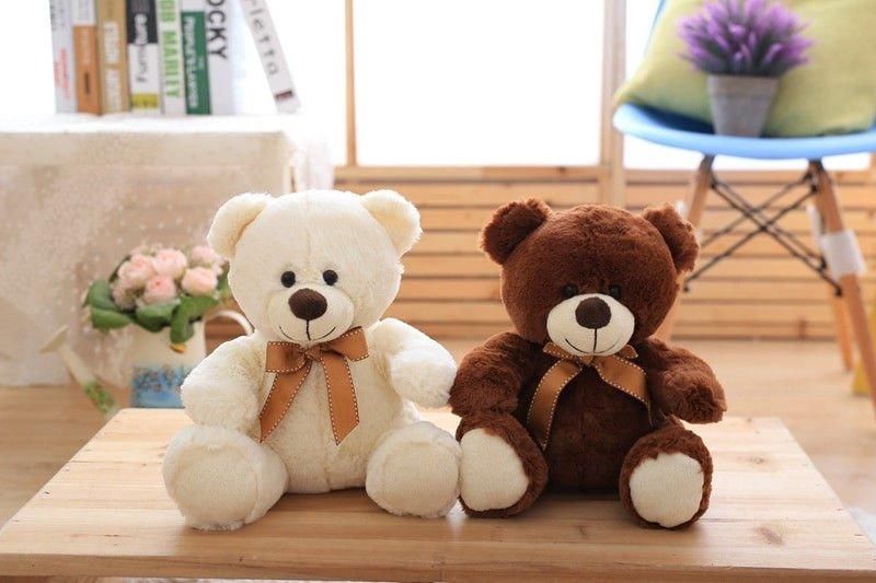 25cm Cute Teddy Bear Stuffed Plush Toy Bear Doll Christmas Present Gift Cartoon