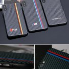 Carbon Fiber iPhone Case BMW M AMG RS Motorsport Cover For X XS MAX 6 Plus 7 8