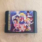 Pretty Soldier Sailor Moon 16-bit MD Game Cartridge Card Sega Mega Drive Genesis