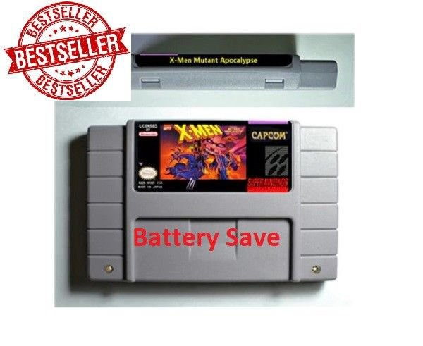 X-Men Mutant Apocalypse Super Nintendo SNES NTSC 16 Bit US Version Battery Save