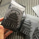 Black Playing Cards Deck Frosting Black Diamond Poker Limited Edition Free Ship!